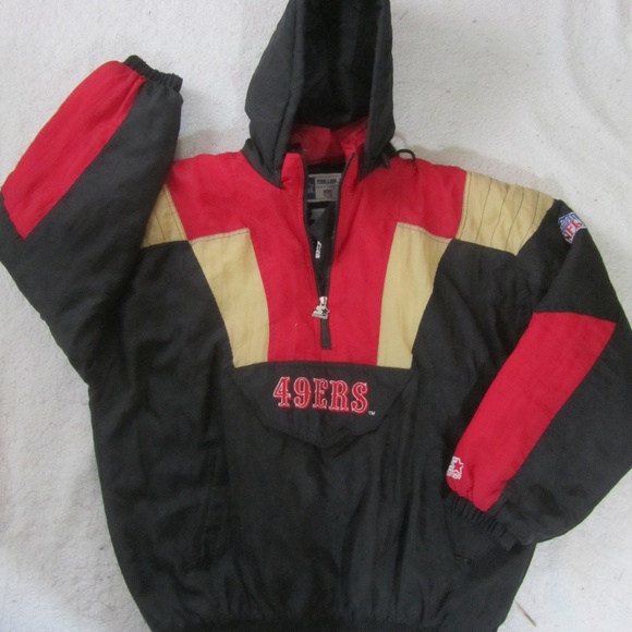 detailed pictures 6c3f0 7ae8b San Francisco 49ers Starter Jacket Hooded NFL